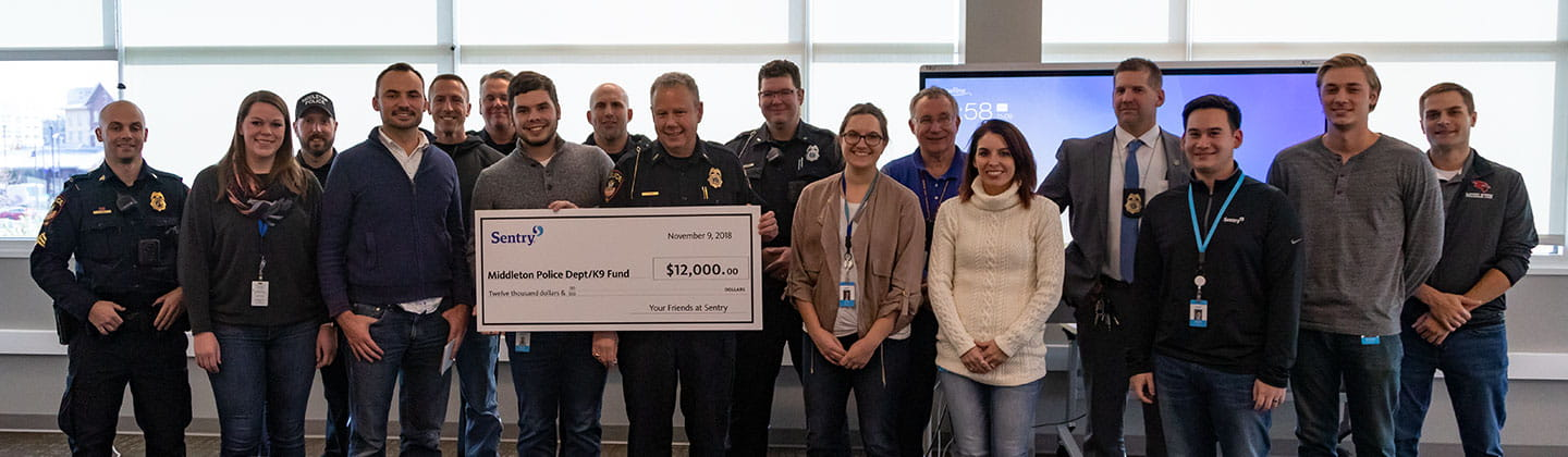 Middleton PD donation