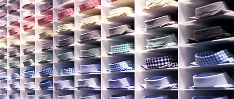 Display of dress shirts